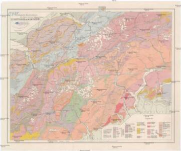 Geologische Kartenskizze der Alpen zwischen St. Gotthard & Montblanc