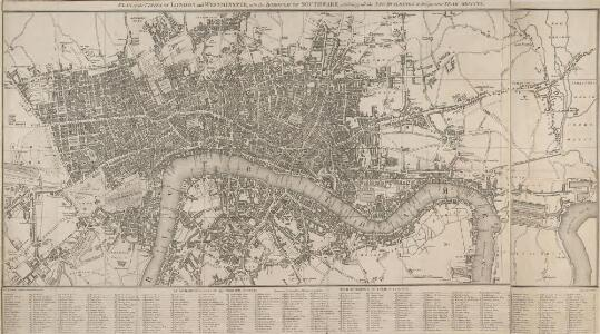 PLAN of the CITIES OF LONDON and WESTMINSTER, with the BOROUGH OF SOUTHWARK, exhibiting all the NEW BUILDINGS to the present YEAR MDCCCVI