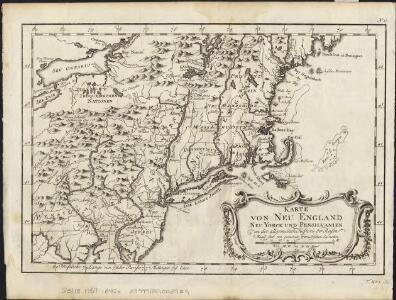 Karte von Neu England, Neu Yorck und Pensilvanien