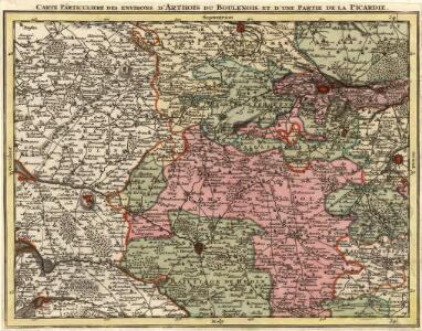 Carte Particuliere des Environs d'Arthois du Boulenois et d'une Partie de la Picardie