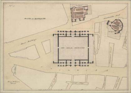 Drawn Plan of the Royal Exchange as it appeared before the year 1853