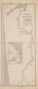 Carta Geográfica Plana del curso del Rio Magdalena