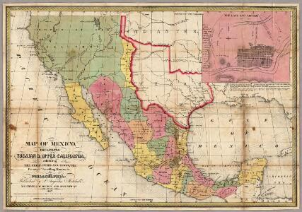 Map Of Mexico, Including Yucatan & Upper California.