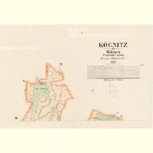Kögnitz - c3090-1-001 - Kaiserpflichtexemplar der Landkarten des stabilen Katasters