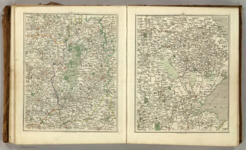 Sheets 42-43.  (Cary's England, Wales, and Scotland).