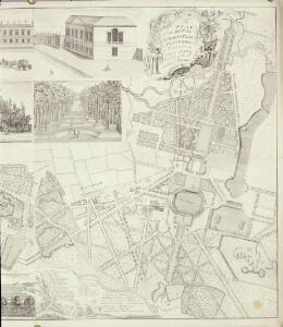 A Plan of the House, Gardens, Park, and Plantations of Wanstead, the Seat of the Earl of Tylney, by Rocque.