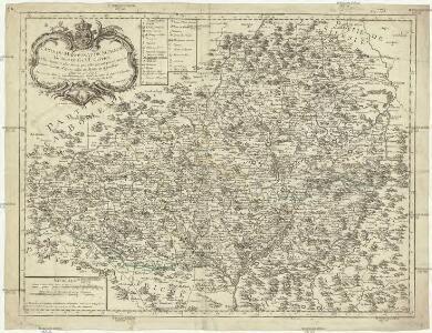Carte du marquisat de Moravie divisée en ses VI. cercles