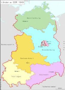 Länder der DDR 1949