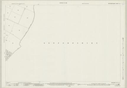 Northamptonshire XL.8 (includes: Chelveston Cum Caldecott; Dean and Shelton; Melchbourne and Yelden) - 25 Inch Map