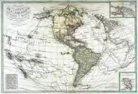 Carte de l'Amerique septentrionale et méridionale