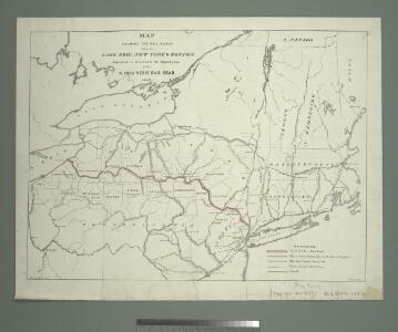 Map shewing the rail roads between Lake Erie, New York & Boston : intended to illustrate the importance of the N. York & Erie Rail Road / J.F. Smith, del.