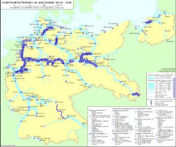 Schiffahrtsstraßen im Deutschen Reich 1938