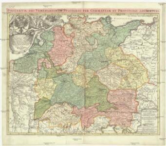 Neu-vermehrte Post-Charte durch gantz Teutschland nach Italien, Franckreich, Niederland, Preußen, Polen, und Ungarn ec