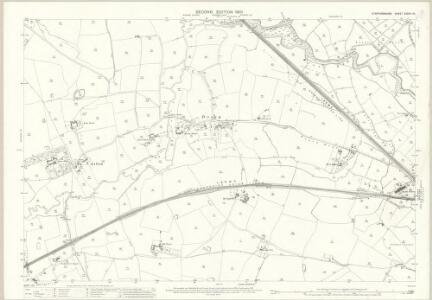 Staffordshire XXXVII.10 (includes: Castle Church; Cresswell; Seighford; Stafford) - 25 Inch Map