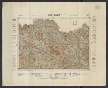 Indo-Chine. Carte géologique provisoire. Flle N 9, Cao-Bang
