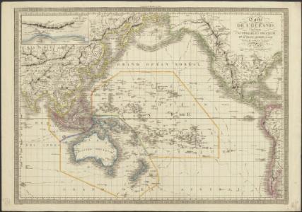 Carte de l'Océanie comprenant l'Australie, la Polynésie et du Grand Archipel d'Asie