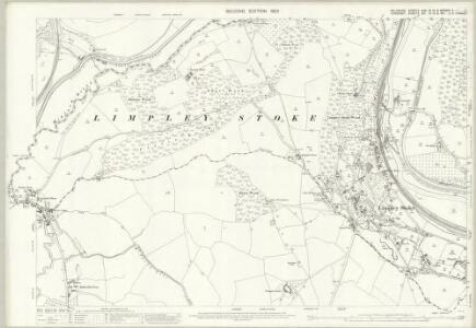 Wiltshire XXXI.16 & 15 & XXXVIIIa.4 (includes: Bath; Combe Hay; Freshford; Hinton Charterhouse; Limpley Stoke; Monkton Combe; South Stoke; Wellow; Winsley) - 25 Inch Map