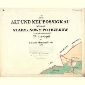 Alt u. Neu Possigkau - c6041-1-002 - Kaiserpflichtexemplar der Landkarten des stabilen Katasters