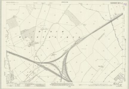 Gloucestershire III.15 (includes: Church Honeybourne; Cow Honeybourne; Pebworth; Weston Subedge) - 25 Inch Map