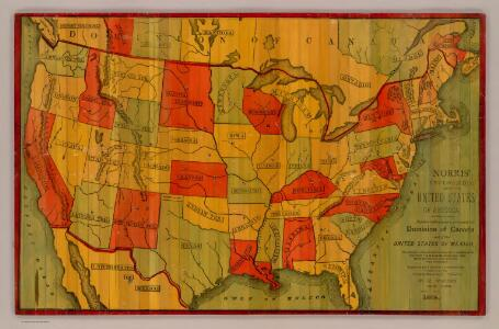 Norris' Cyclopaedic Map Of The United States Of America.