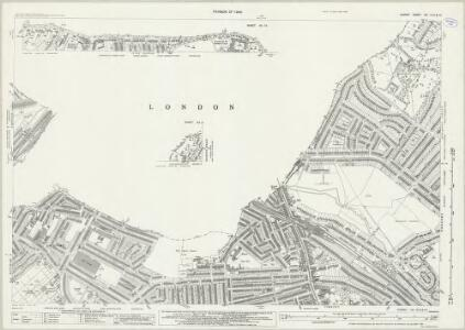 Surrey VIII.13 & 9 & 10 (includes: Camberwell; Croydon St John The Baptist; Lambeth St Mary; Mitcham; Wandsworth Borough) - 25 Inch Map