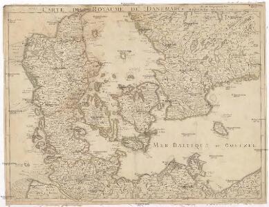 Carte du royaume de Danemarck