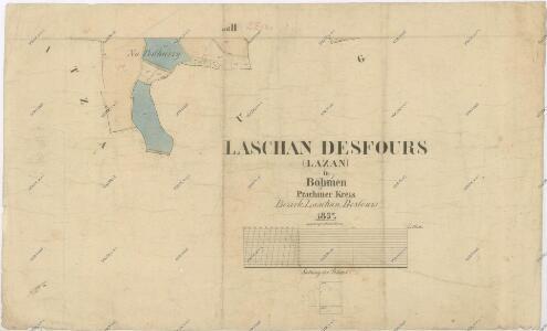 Katastrální mapa obce Defurovy Lažany