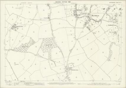 Hertfordshire VIII.14 (includes: Clothall; Cottered; Rushden; Wallington) - 25 Inch Map