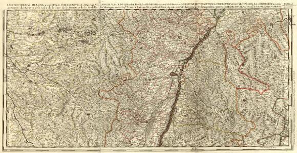 La Basse Diviseé en Balliages et Seugneries deca et de la Rhin, ou sont le Grand Balliage. D Haguenau, les Terres D'Hanau, de l'Evesché de la Ville de Strasbourg et des Nobles les Montagnes noires Seples. L Ortnaw le Grand Marquisat de Bade et partie du Wirtenberg levé sur les lieux pendant les guerres.