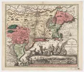 Recens edita totius Novi Belgii in America Septentrionali siti