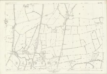 Northamptonshire LVIII.5 (includes: Banbury; Chalcombe; Hanwell; Middleton Cheney) - 25 Inch Map