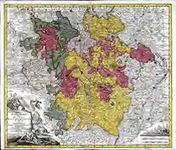 Mappa geographica, in qua ducatus Lotharingiæ et Barr ut et episcopatuum Metens. Tullens. Verdunens. territoria