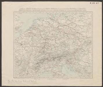 Carte des chemins de fer dans le Nord et le Sud de l'Europe centrale et de leur jonction au moyen de la ligne projetée par le Lucmanier