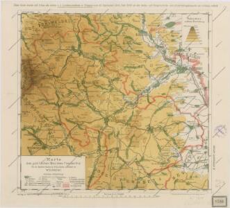 Karte des politischen Bezirkes Freudenthal