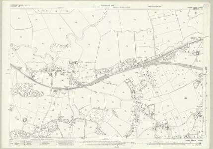 Dorset XXXIV.11 (includes: Corfe Mullen; Pamphill; Sturminster Marshall) - 25 Inch Map
