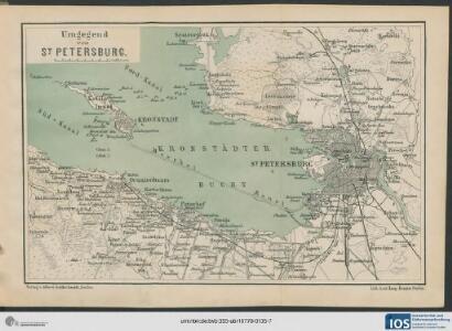 Karte der Umgegend von St. Petersburg