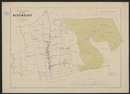 Uebersichtsplan der Gemeinde Neuendorf