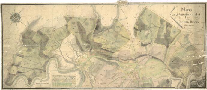 Porostní mapa polesí Plasy