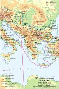 Südosteuropa in der Spätantike (Mitte des 4. Jh.)