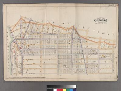 Plate 1: [Bounded by Montgomery Street, New York Avenue, Malbone Street, Kingston Avenue, Fenimore Street, Ocean Avenue and Flatbush Avenue.]