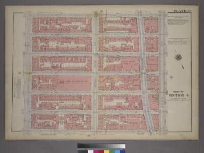 Plate 37, Part of Section 4: [Bounded by W. 53rd Street, Seventh Avenue, W. 47th Street and Ninth Avenue.]