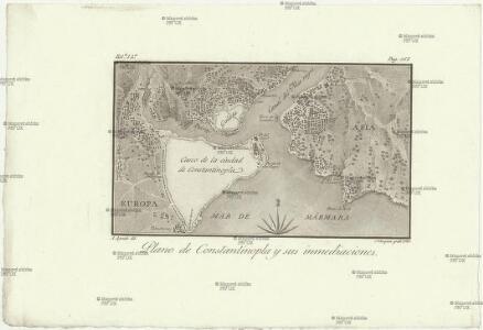 Plano de Constantinopla y sus inmediaciones