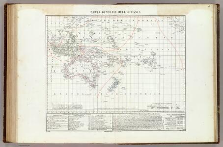 Carta generale dell'Oceania.