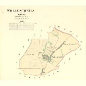Wolleschnitz - m2128-1-001 - Kaiserpflichtexemplar der Landkarten des stabilen Katasters