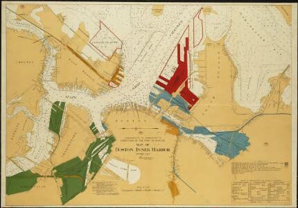Map of Boston Inner Harbor