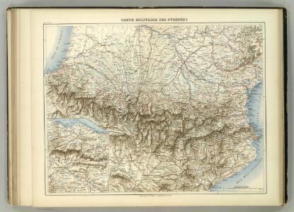 Carte Militaire des Pyrenees.