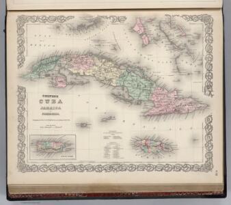 Cuba, Jamaica and Puerto Rico.