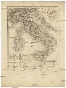 Karte von Italien und Dalmatinischen Küste