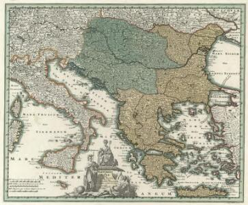 Danvbivs & Ister cum Dominio Turcico in Europa et adjacentibus Regionibus descriptus a fonte ad Ostia