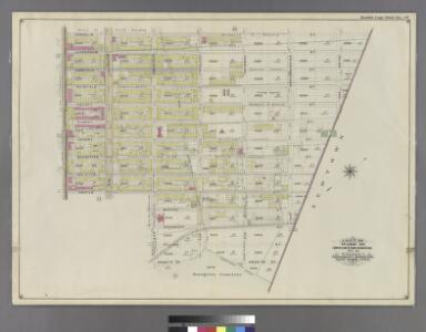 Double Page Plate No. 40: [Bounded by Cornelia Street, Irving Avenue, Halsey Street, Knickerbocker Avenue, Chauncey Street, Hamburg Avenue, Granite Street, Evergreen Avenue, Cooper Street and Broadway.]